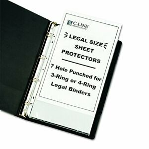 Top Loading Heavyweight Poly Sheet Protectors Clear Legal Size 14 X 8 5