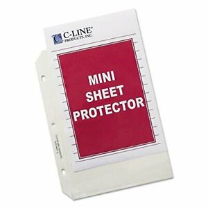 Top Loading Heavyweight Poly Sheet Protectors Clear Mini Size 8 5 Box Of 50