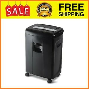 12 sheet Crosscut Paper And Credit Card Shredder With Pullout Basket