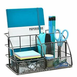 Office Desk Organizer With Drawer All In One Metal Office Supplies Desktop