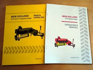 New Holland 270 Hayliner Baler Operator s And Parts Manual Catalog Book Nh