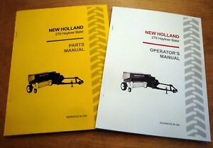 New Holland 276 Hayliner Baler Operator s And Parts Manual Catalog Book Nh