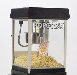 New Black Funpop 4 Oz Popcorn Popper Machine Gold Medal