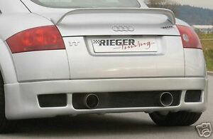 Audi Tt Genuine Rieger Rear Wing Spoiler New