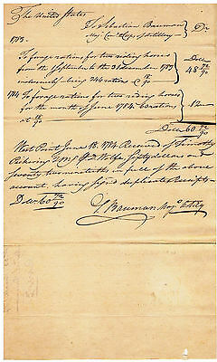 West Point 1784 Pay Order And Receipt, Written And Signed By Timothy Pickering