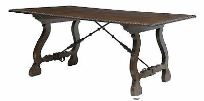 Spanish Influenced Parquetry Top Refectory Table