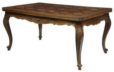 20th Century French Walnut Parquetry Extending Dining Table