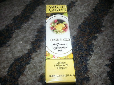 Yankee Candle Island Mango Fruit Scented Potpourri Refresher Oil W/ Dropper New