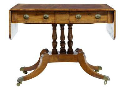 19th Century William Iv Inlaid Mahogany Sofa Table