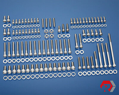 Ford 351w Stainless Bolt Kit Pre-77 Windsor Small Block Ford Pass Side H20 Inlet