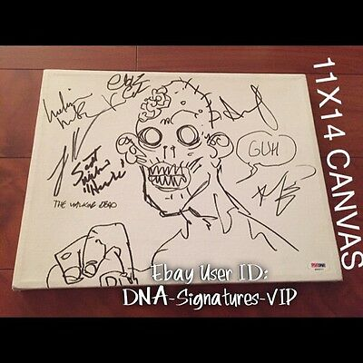 The Walking Dead Signed Adrew Lincoln Signed Robert Kirkman Signed Sketch (a