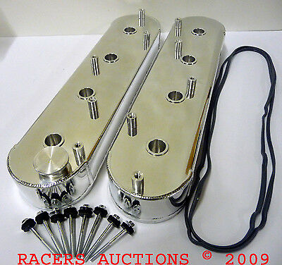 Chevy Ls1 Ls2 Ls6 Fabricated Aluminum Valve Covers Tall Polished W/ Coil Mounts