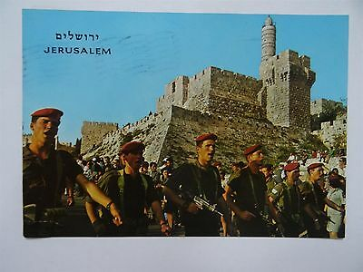 Jerusalem Route March Annual Pilgrimage  Idf Zahal Parade Postcard Pc Israel