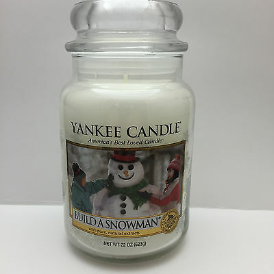 Yankee Candle Build A Snowman 22 Oz Jar Candle - New