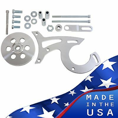Billet Aluminum Ford Power Steering Bracket 289 302 351w V-belt 5.0 Sbf Pulley