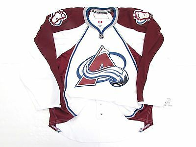 Colorado Avalanche Authentic Away Team Issued Reebok Edge 2.0 7287 Jersey Sz 58