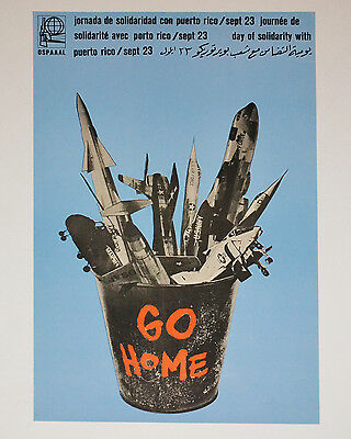 1971 Original Cuban Poster.puerto Rico Independentism.yankee Go Home.imperialist