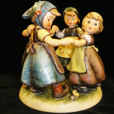 "Ring Around The Rosie  Hummel-goebel 7.25"" Tall Hand Painted Pottery Germany"