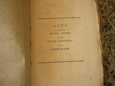(lewis And Clark) (slavery) Acts Passed At The 2nd Session Of The Ninth Congress