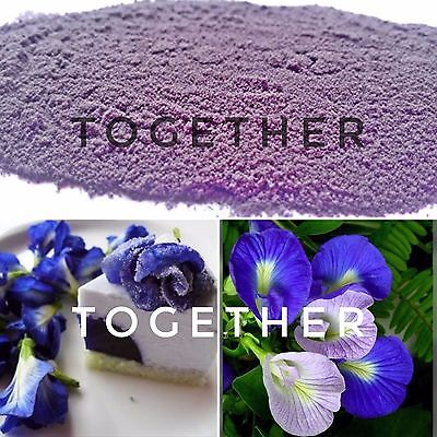 blue butterfly pea pure 100% natural powder 50 kg or big lot or ingredients