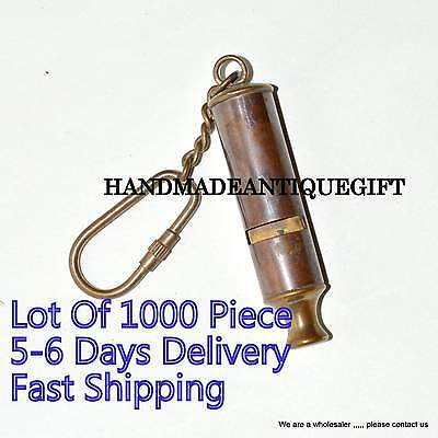 Vintage Style Brass Scout Whistle Key Chain Key Ring Lots Of 1000