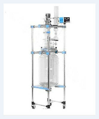 50l Jacketed Glass Chemical Reactor Vessel Explosion Proof Customizable E