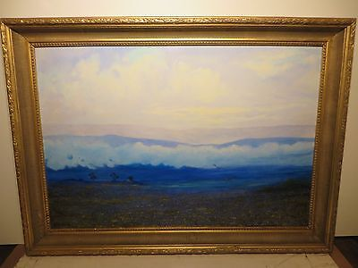 "26x38 Original Oil Painting By Daniel Kendrick ""texas Bluebonnet Hill Country"""