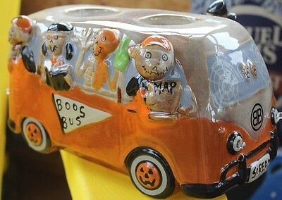 2016 Yankee Candle Boney Bunch Boos Bus Vw Bus Votive Holder ~~new In Box~~