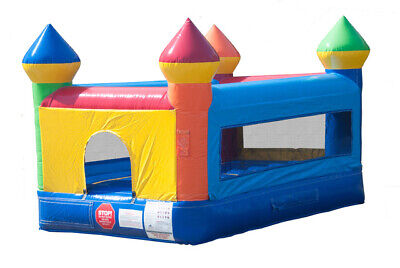 Junior Rainbow Kids Castle Commercial Inflatable Indoor Bounce House With Blower