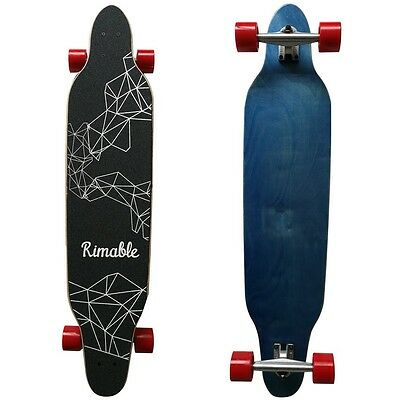 Rimable 42 Original Top Quality Inch Freestyle Topmount Longboard Bluered 5 Star