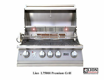 """Lion L75623 4 Burner 32"""" Drop In/built In Bbq Island Gas Grill -ng- Package Deal"""