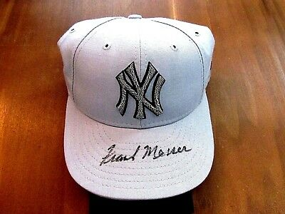 Frank Messer Yankee Announcer Rare Signed Auto Vintage New Era Cap Hat Jsa