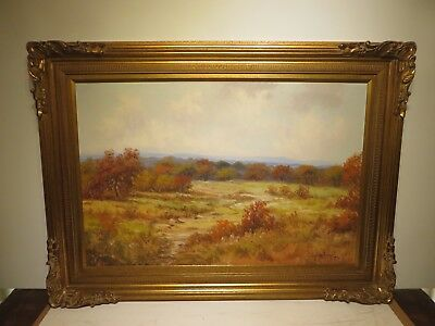 """24x36 Original 1970 Oil Painting By Jose Ramos Of """"texas Autumn Hill Country"""""""