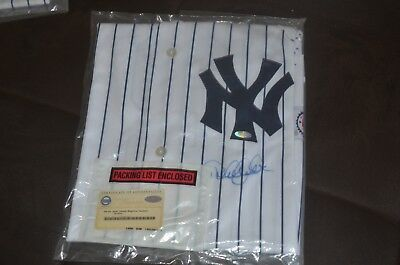 Derek Jeter Ny Yankee Autograghed Jersey Steiner Coa With Hologram Authenticated