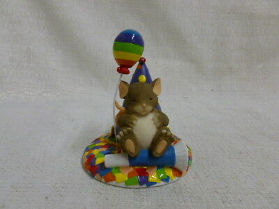 Charming Tails Take Time To Dream 89/131 Balloon Birthday Mouse New In Box