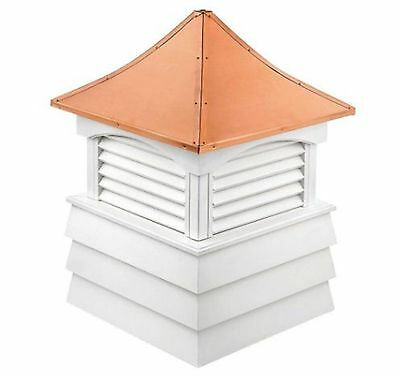 sherwood 54 in. x 54 in. x 81 in. louvered vinyl cupola home roof shed cover