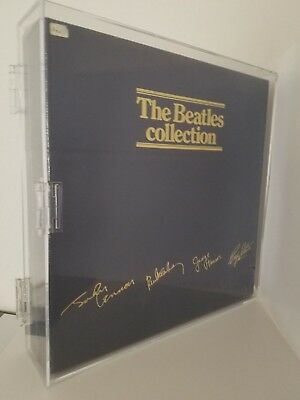 the beatles collection blue box brand new sealed customized display case!
