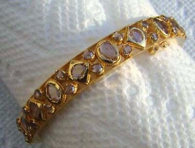 Ladies Vintage 22k Bracelet W/ 6.75ct. Of Lilac Rose Cut Diamonds Very Unique!!
