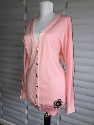 authentic chanel cashmere cardigan sweater signature camellia flower new fr38