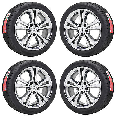 """18"""" Lincoln Mkz Pvd Chrome Wheels Rims Tires Factory Oem 2010 2011 2012 3806"""