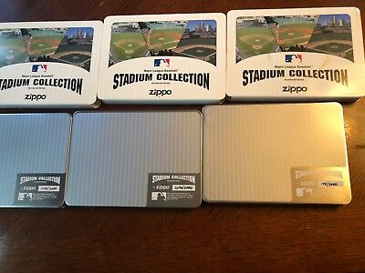 Zippo Stadium Collection Complete Set Yankee Stadium Wrigley Field Fenway Park