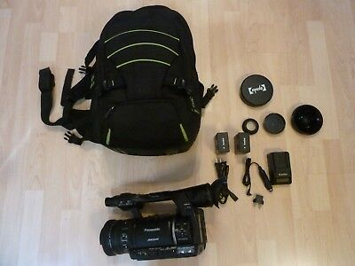 panasonic ag ac160a avccam hd camcorder 2 battery and professional bag extra lens