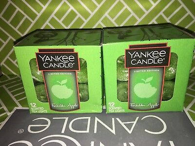2x Forbidden Apple Yankee Candle Tea Lights Tealights Halloween Limited Edition