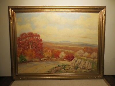 """30x40 Org. 1930 Oil Painting By Ira David Shepler Of """"bandera Hill Country S.a."""""""
