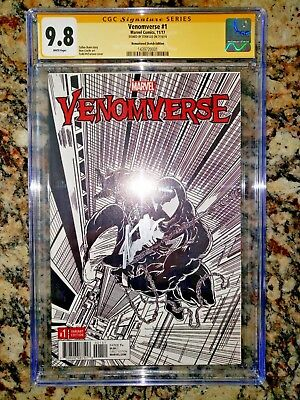 Venomverse #1 Cgc 9.8 Ss Stan Lee 1:2000 Remastered Sketch Edition Rare Beauty