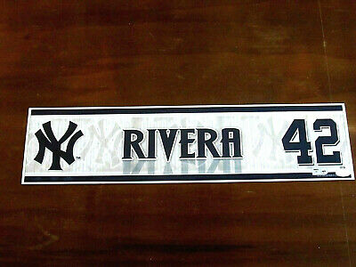 Mariano Rivera # 42 Hof 2011 Yankee Stadium Game Used Locker Nameplate Steiner
