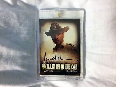 Walking Dead Andrew Lincoln As Rick Auto Card Autograph
