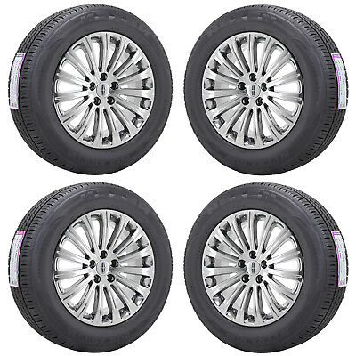 """18"""" Lincoln Mkx Pvd Chrome Wheels Rims Tires Factory Oem Set 4 3851"""