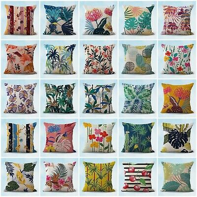 Us Seller- Set Of 20 Garden Flowers Foliage Cushion Covers Throw Pillow Case