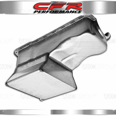 Fits 1965-87 Ford Small Block 260 289 302 Drag Racing Oil Pan Front Sump 7qt Raw